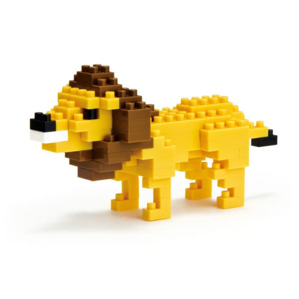 nanoblock Animals Level 2 Lion: 90 Pieces