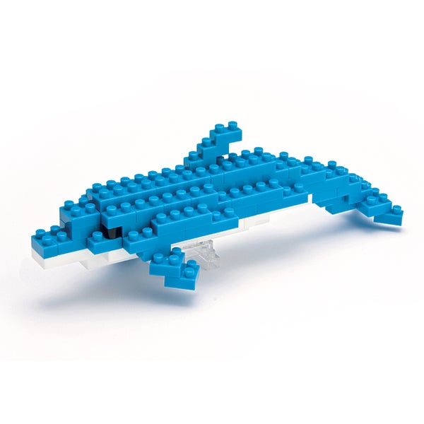 nanoblock Animals Level 1 Bottlenose Dolphin: 70 Pieces