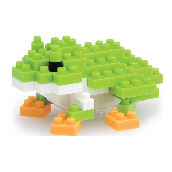 nanoblock Animals Level 2 Green Tree Frog: 80 Pieces