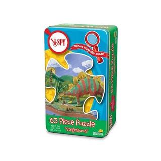 I Spy Stegosaurus Puzzle Tin: 63 Pieces