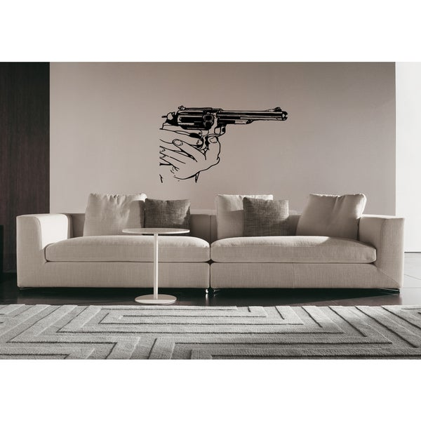 The gun in the hands of sight Wall Art Sticker Decal