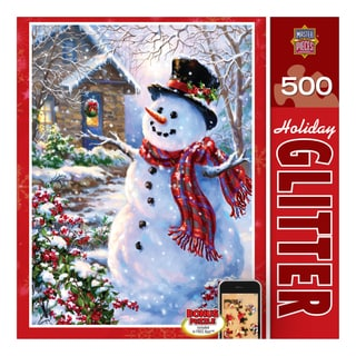 Holiday Glitter Puzzle Let it Snow: 500 Pieces
