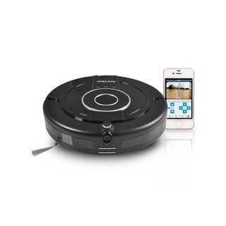 Pyle PUCRCAM75 WiFi Compatible Smart Robot Vacuum with Built-in Camera
