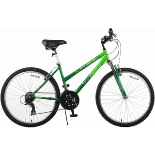 Trail 21-speed Green Suspension Women's Mountain Bike