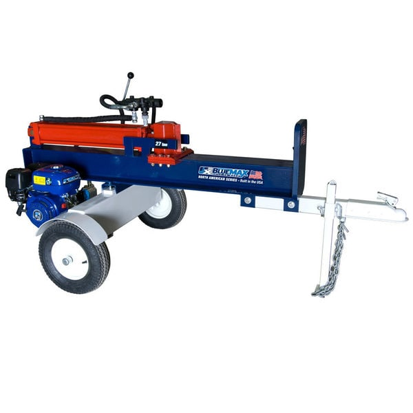 Blue Max 27 Ton 54,000 lb Horizontal Gas Log Splitter - 'Built in the USA