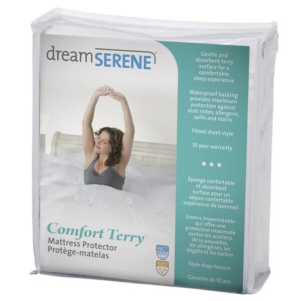 DreamSerene Comfort Terry Mattress Protector