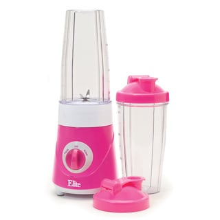 Maxi-Matic Elite EPB-2572P Personal Drink Mixer with Two Travel Cups, Pink