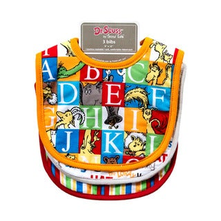 Trend Lab Dr. Seuss Alphabet Seuss 3 Pack Bib Set