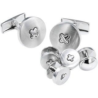 Rhodium-plated Cufflink Set