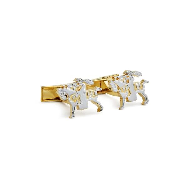 Rhodium-plated Brass Jockey Cufflinks