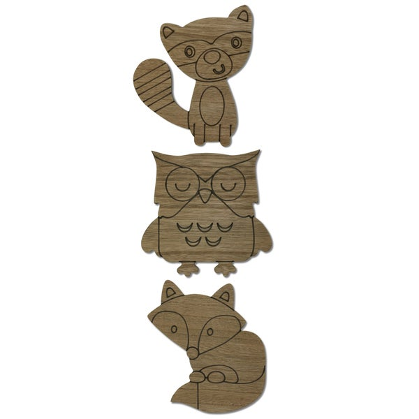 The Peanut Shell Woodland Animals Wall Art (Set of 3)