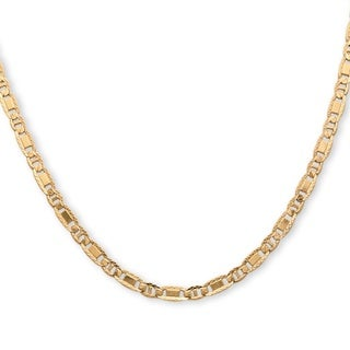 PalmBeach 14k Yellow Gold over Silver Men's Mariner Link Chain