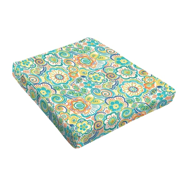 Sloane Blue Rio Floral Outdoor Tapered Chair Cushion