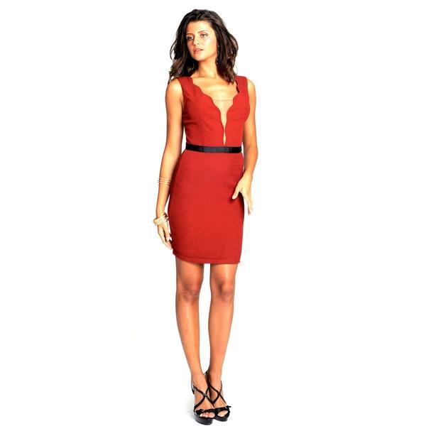 Sara Boo Deep Plunge Empire Dress