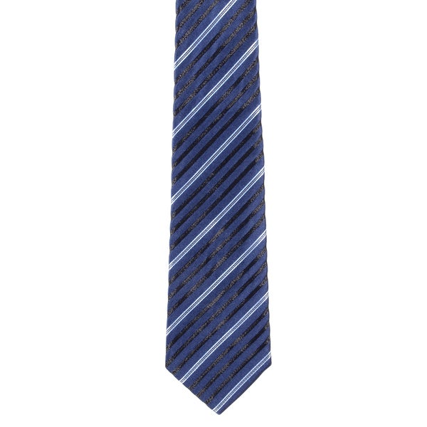 Davidoff 100-percent Silk Navy Blue Stripe Neck Tie
