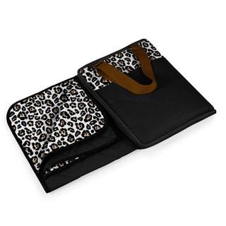 Picnic Time Vista Leopard Print Blanket Tote