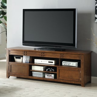 Furniture of America Gretelle Rustic Tobacco Oak 66-inch TV Console