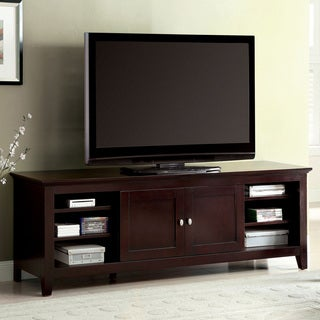 Furniture of America Harmos Transitional 72-inch Dark Cherry TV Stand