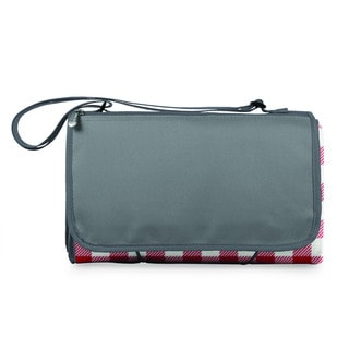 Picnic Time Red Check with Grey Blanket Tote