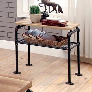 Furniture of America Galbus Industrial Antique Black 1-shelf End Table