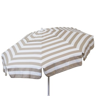 Euro 6-foot Striped Umbrella