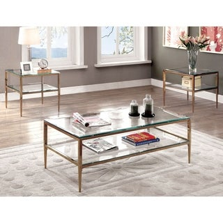 Furniture of America Midiva Contemporary Metal 3-piece Accent Table Set