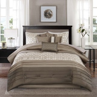 Madison Park Jeffrey Taupe 7-piece Comforter Set
