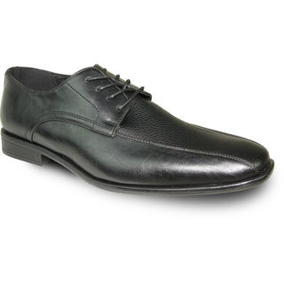 BRAVO Men Dress Shoe NEW KELLY-3 Oxford Black Matte - Wide Width Available