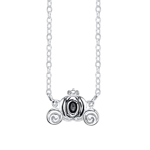 Disney Sterling Silver Cinderella Carriage Necklace