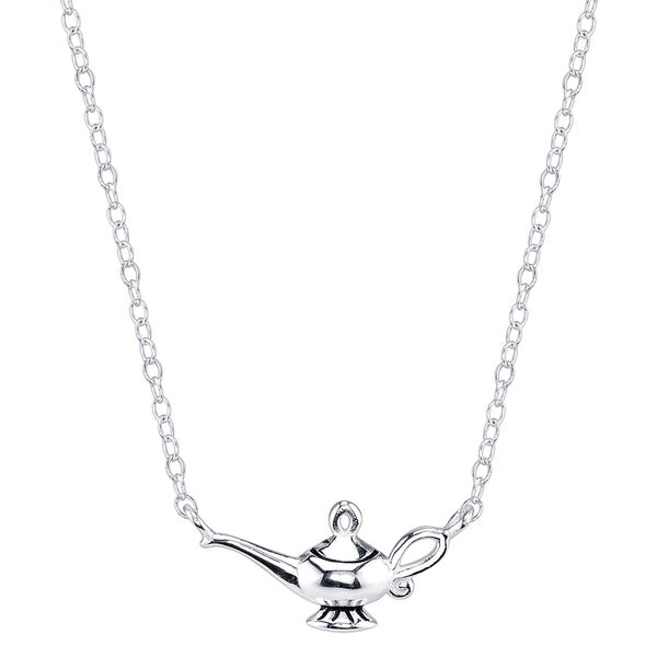 Disney Sterling Silver Aladdin Magic Lamp Necklace