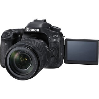 Canon EOS 80D 24.2 Megapixel Digital SLR Camera with Lens - 18 mm - 1