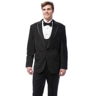 Caravelli Men's Black Velvet Tuxedo