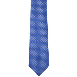 Davidoff 100-percent Silk Blue/ Silver Dot Neck Tie
