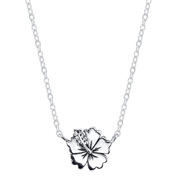 Disney Sterling Silver Lilo & Stitch Flower Necklace