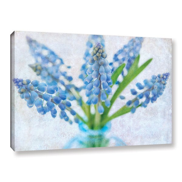 ArtWall Cora Niele's Blue Grape Hyacinth Gallery Wrapped Canvas