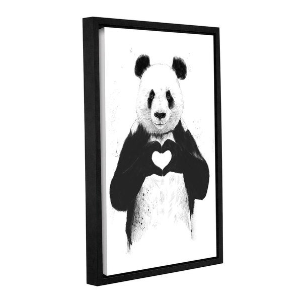 ArtWall Balazs Solti's All You Need Is Love Gallery Wrapped Floater-framed Canvas