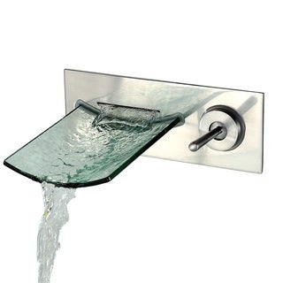 Sumerain Glass Waterfall Wall-Mount Bathroom Faucet