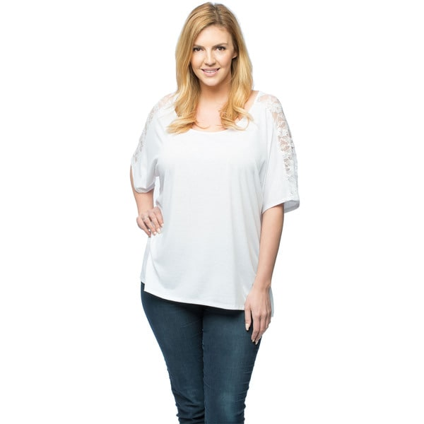 Plus Size Blouse with Lace Back Detailing