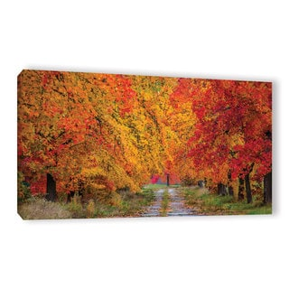 ArtWall Marianne Mangan's Fall's Path Gallery Wrapped Canvas