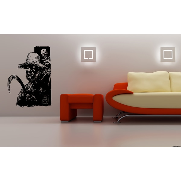 Halloween Zombie and Skeleton Wall Art Sticker Decal 17617594
