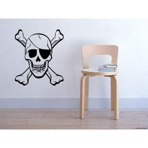 Skull and Bones Wall Art Sticker Decal