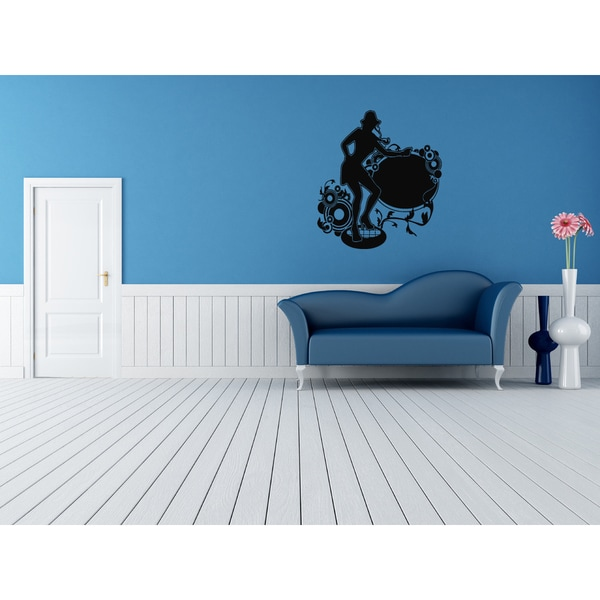 Night Club Dancing Girl Wall Art Sticker Decal