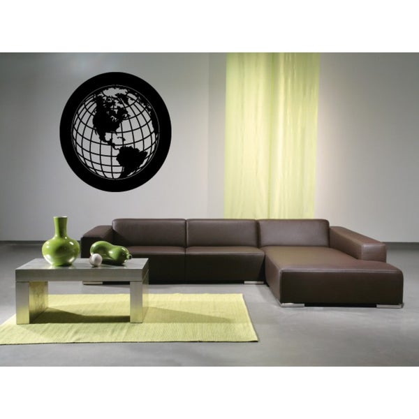 Planet Earth Template Wall Art Sticker Decal