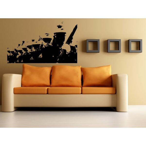Marine Parade Soldier Wall Art Sticker Decal