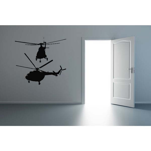 Helicopter Flight Wall Art Sticker Decal