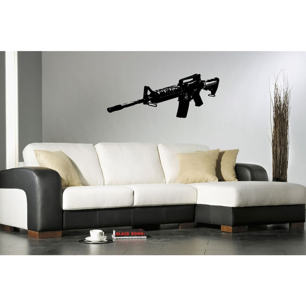 Submachine gun Wall Art Sticker Decal