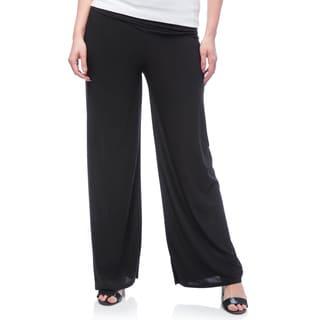 JED Women's Plus Size Wide Leg Palazzo Pants