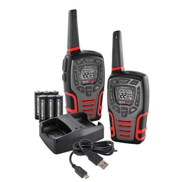 Cobra CXT 545 28-Mile Range Two-Way Radios with Dock