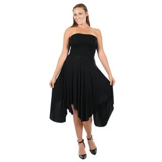 Firmiana Women's Black Long Ruffle Dress