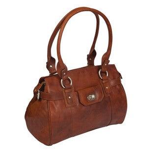 Full Grain Leather Rose Canyon Leather Handbag